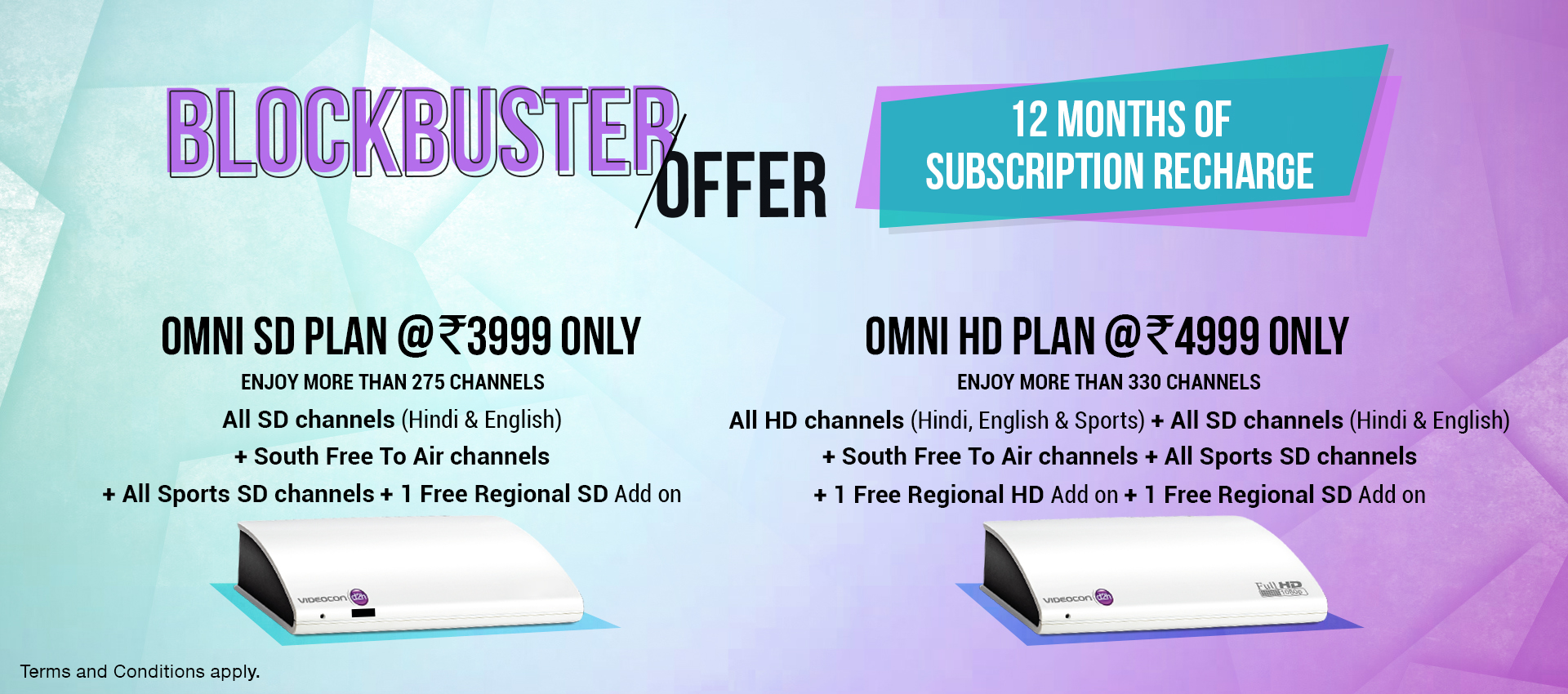 Update - Omni Pack - Annual Subscription Plan on Videocon d2h